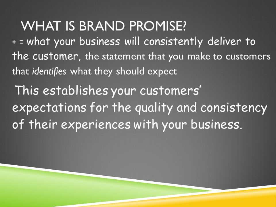 What is Brand Promise