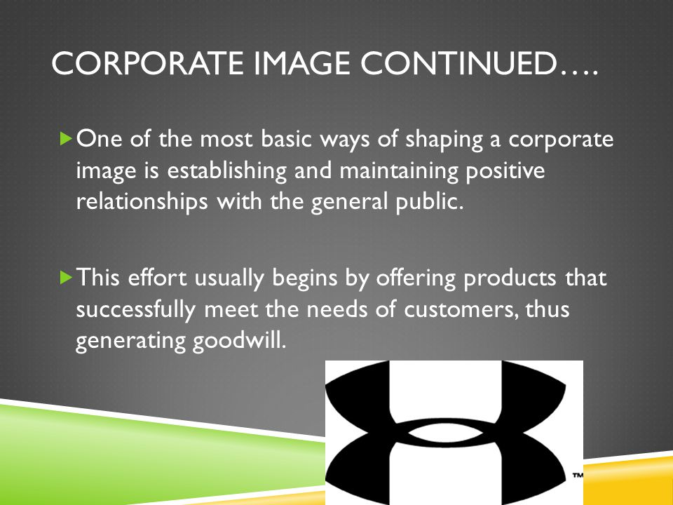 Corporate Image Continued….
