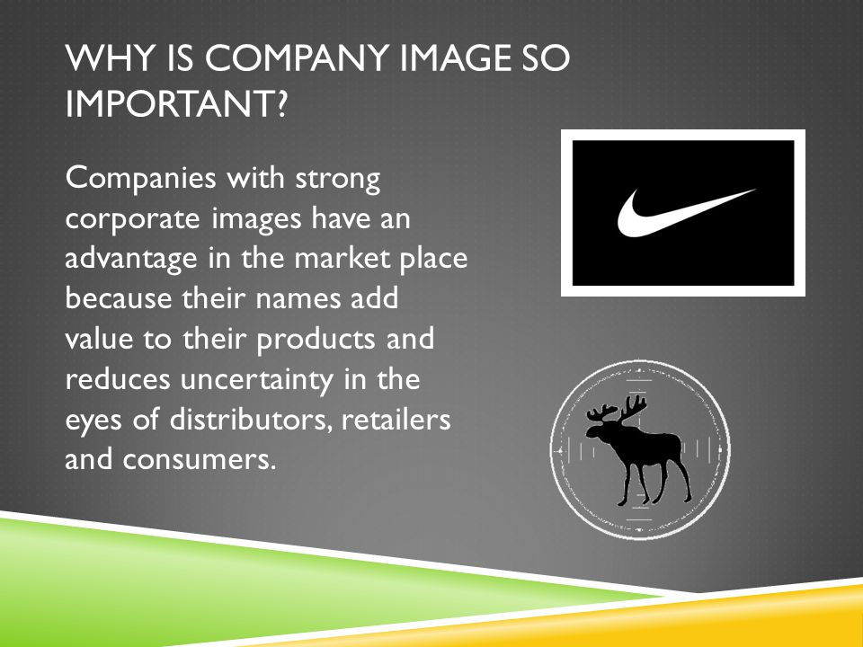 Why is Company Image so important