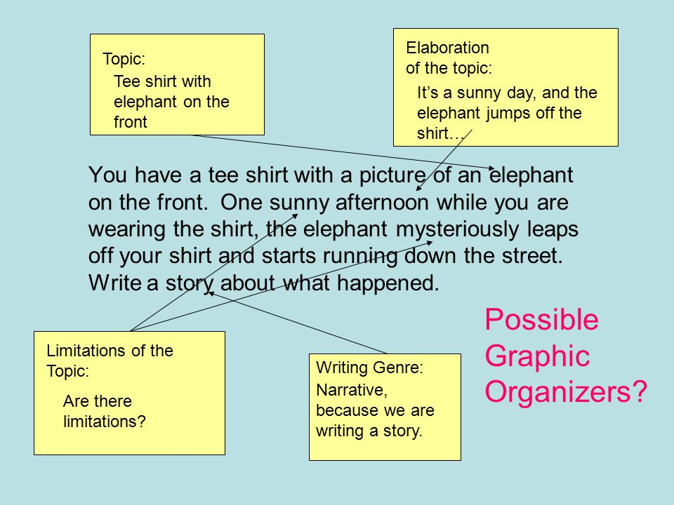 Possible Graphic Organizers