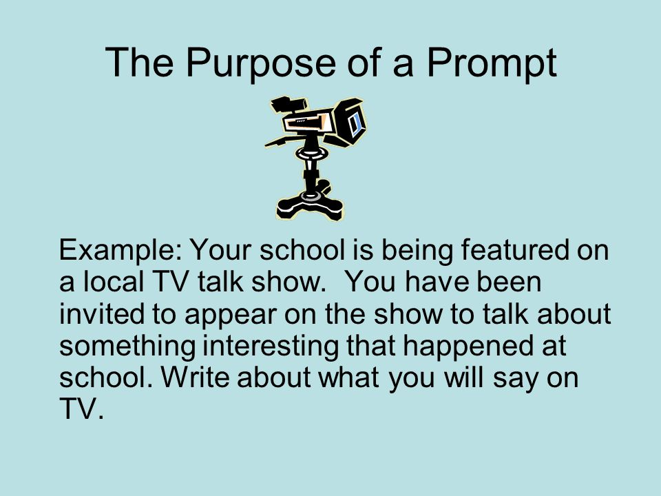 The Purpose of a Prompt