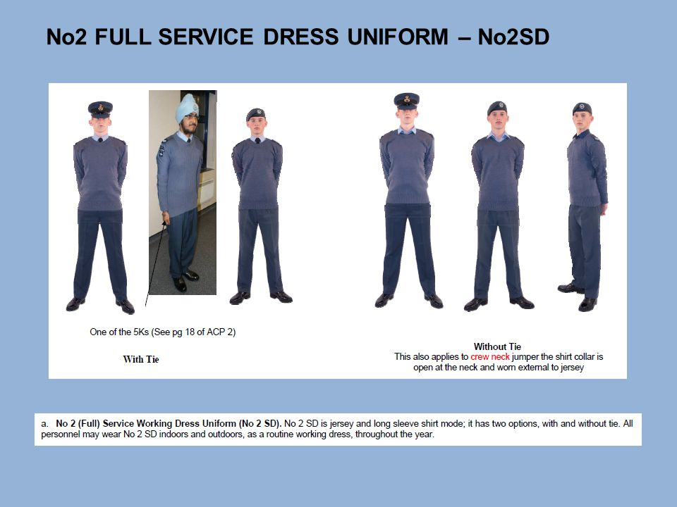 No 2 service dress white