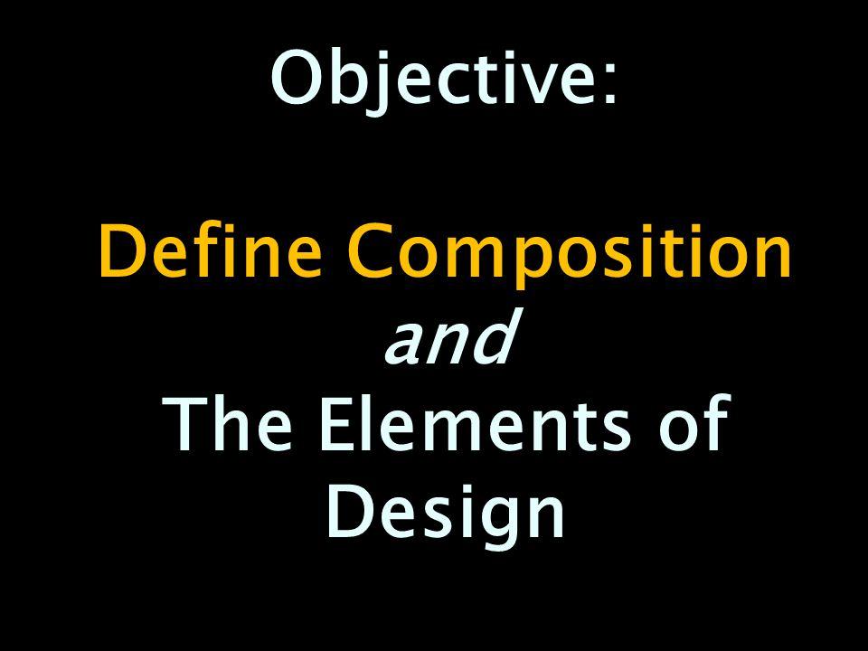 Define Elements Of Design : Define composition and the elements of design ppt video