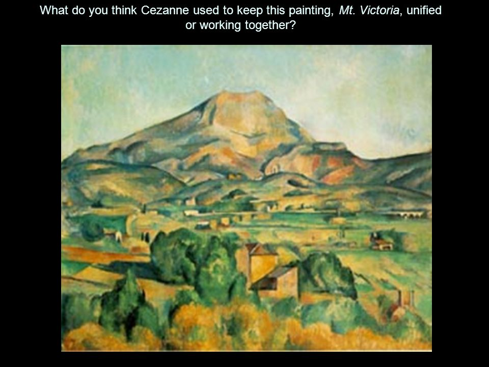 What do you think Cezanne used to keep this painting, Mt