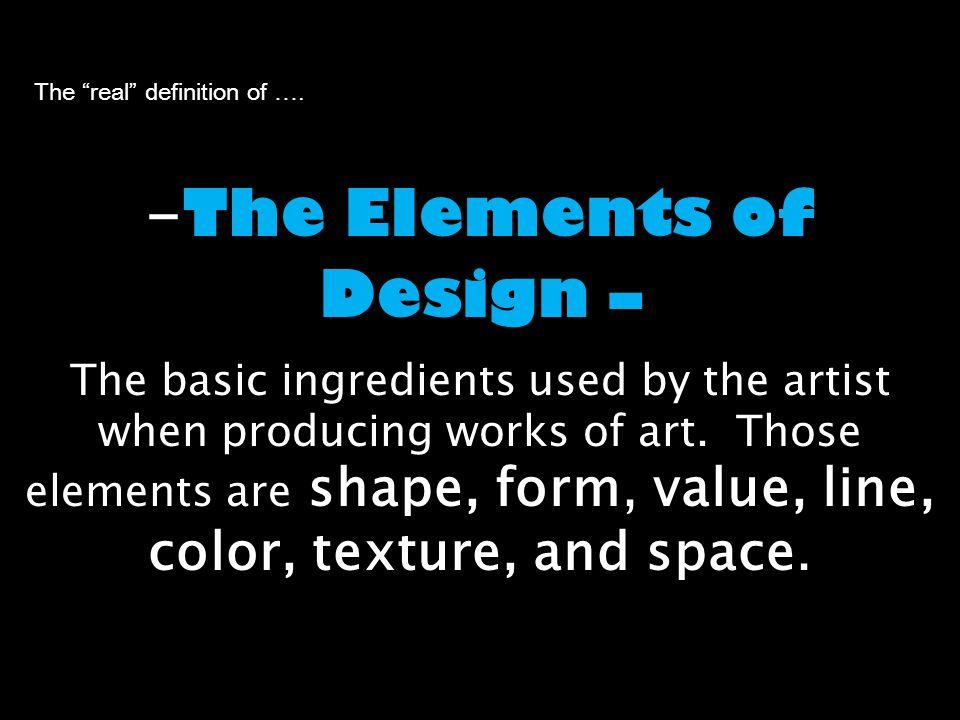 Elements Of Design Line Definition : Define composition and the elements of design ppt video