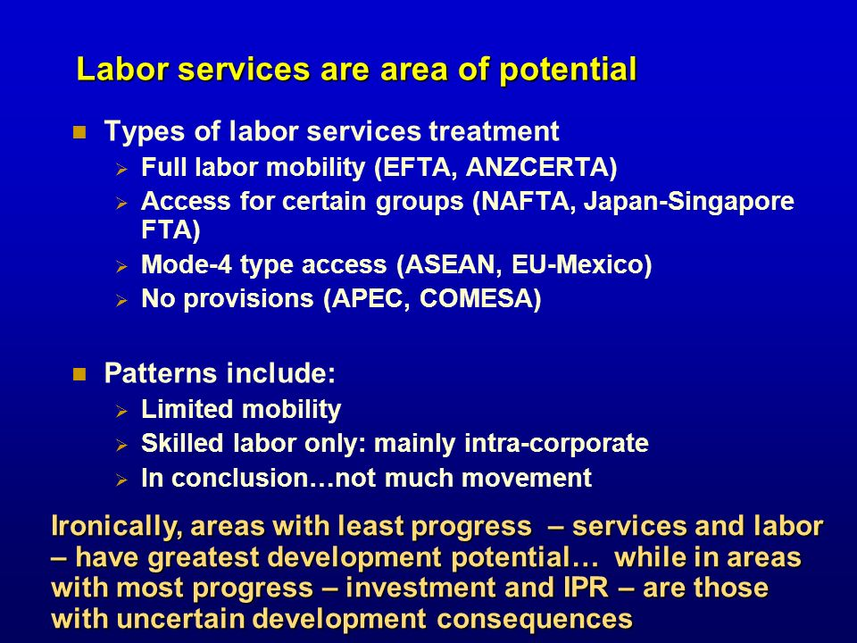 Labor services are area of potential