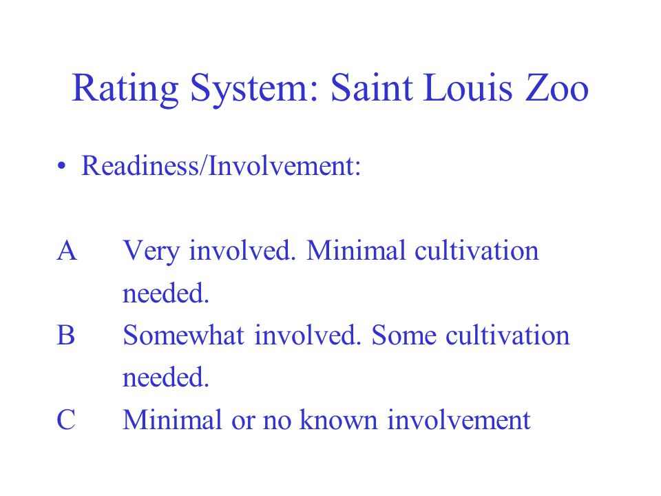 Rating System: Saint Louis Zoo
