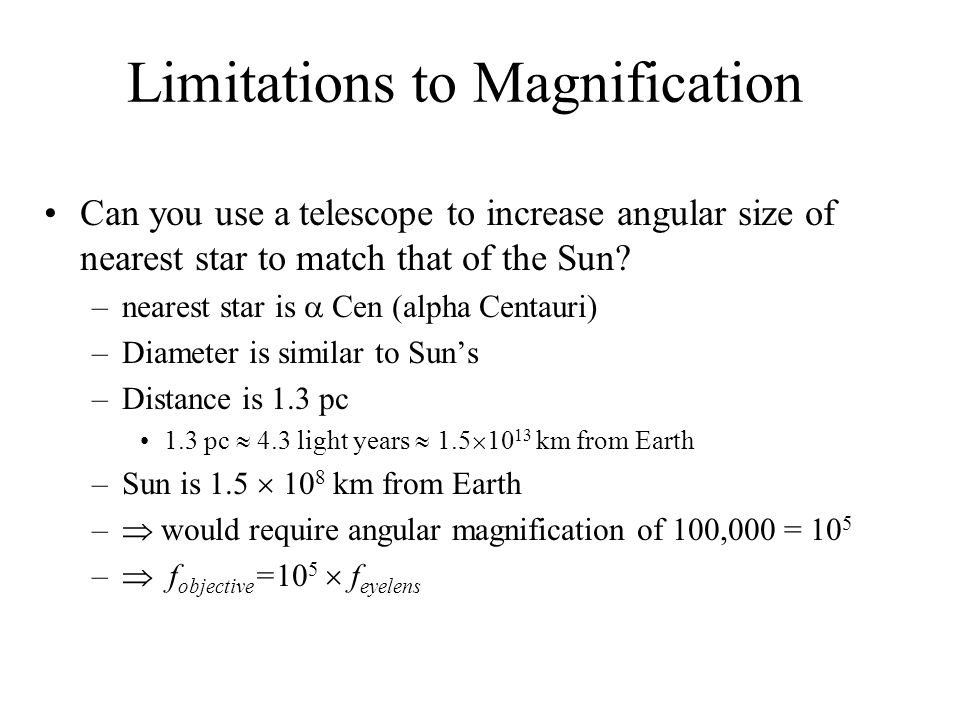 Limitations to Magnification