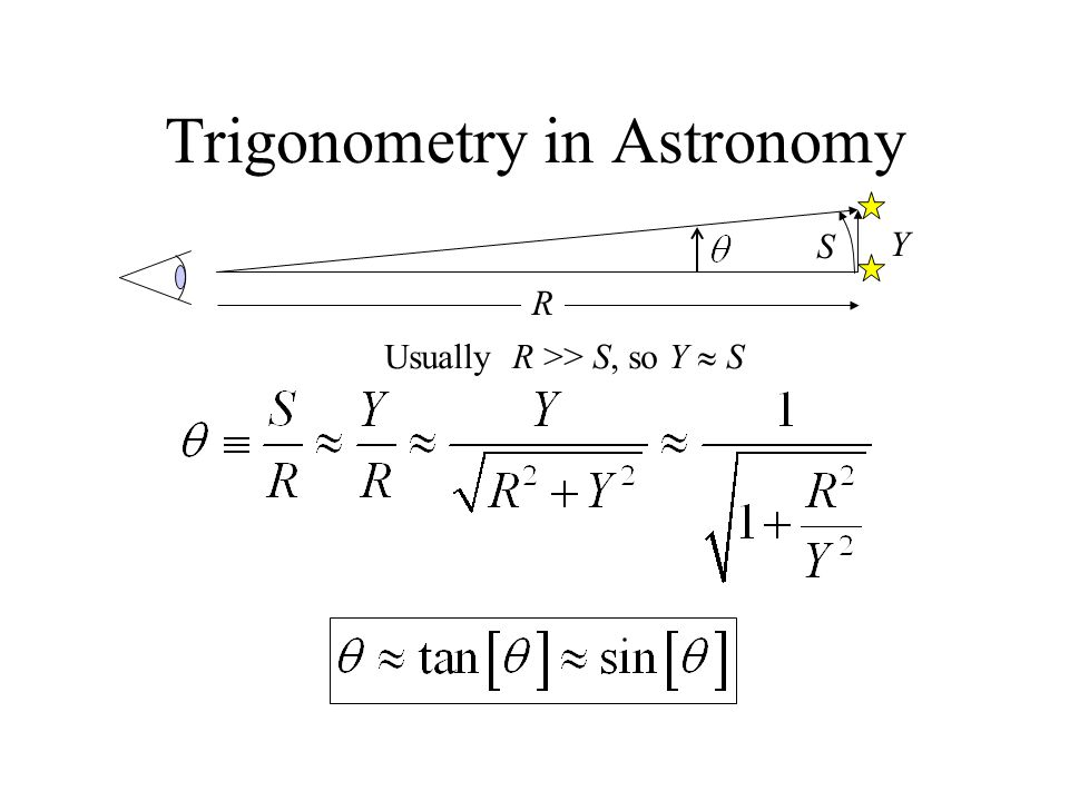 Trigonometry in Astronomy