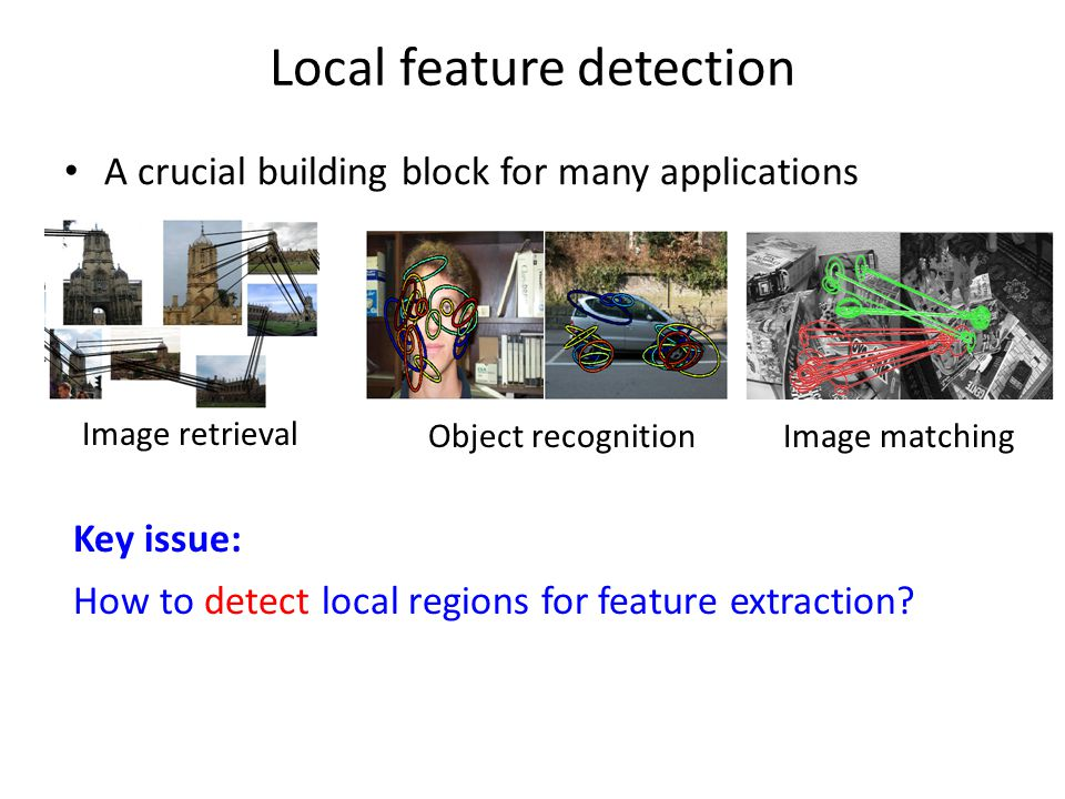 Local feature detection