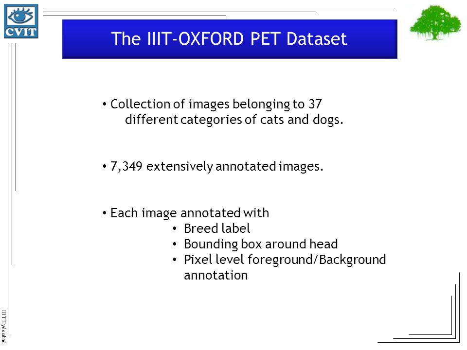 The IIIT-OXFORD PET Dataset