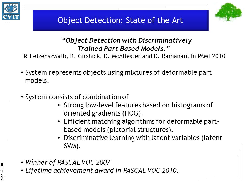 Object Detection: State of the Art