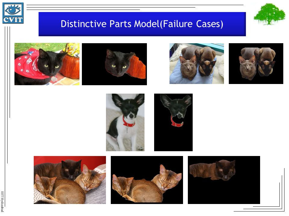 Distinctive Parts Model(Failure Cases)
