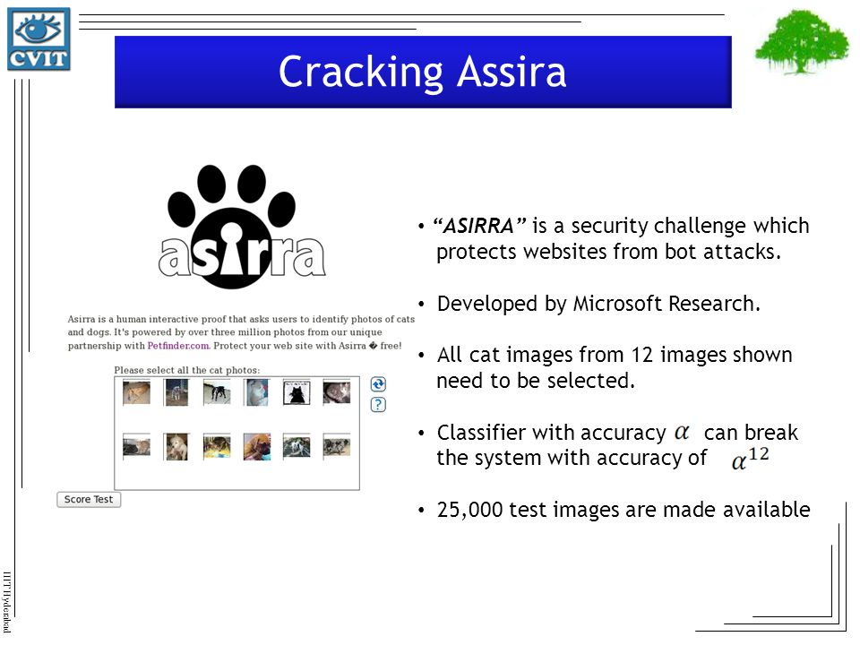 Cracking Assira ASIRRA is a security challenge which