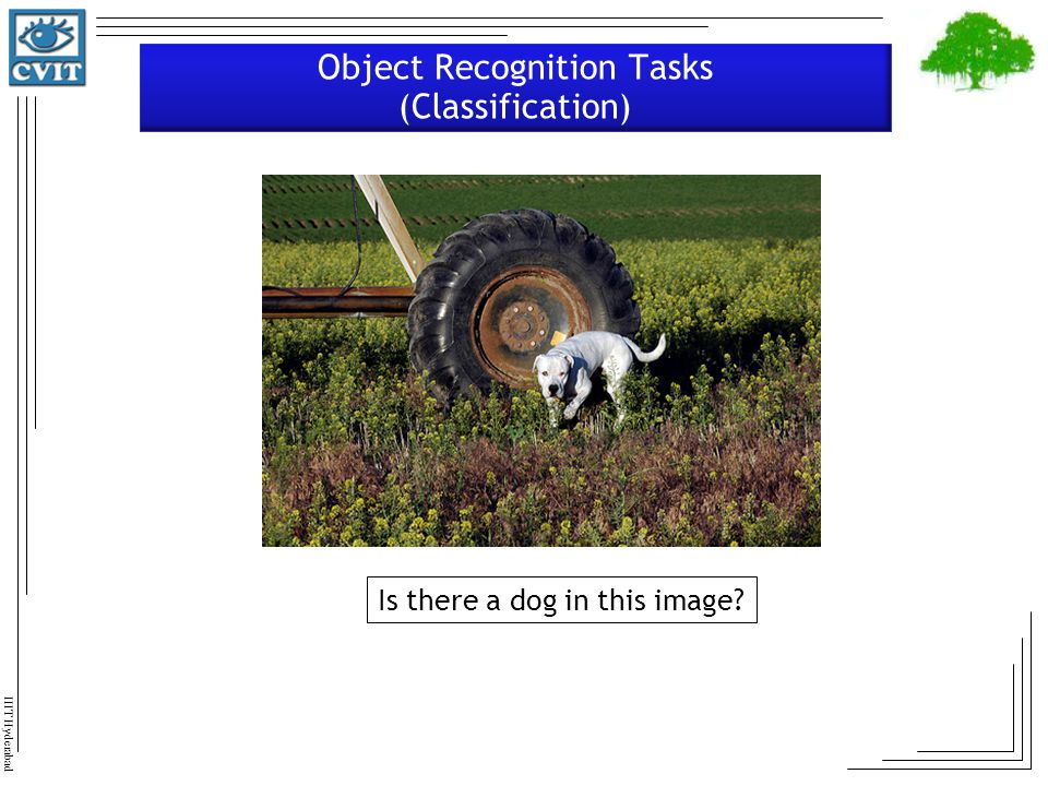 Object Recognition Tasks (Classification)