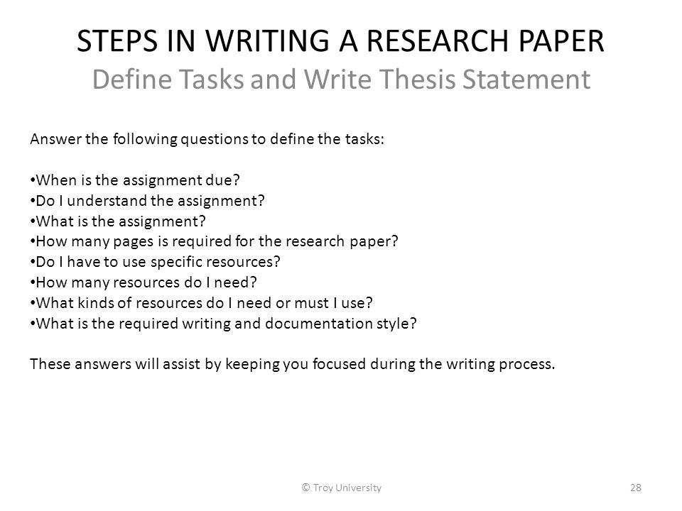 what are the steps in doing a research paper