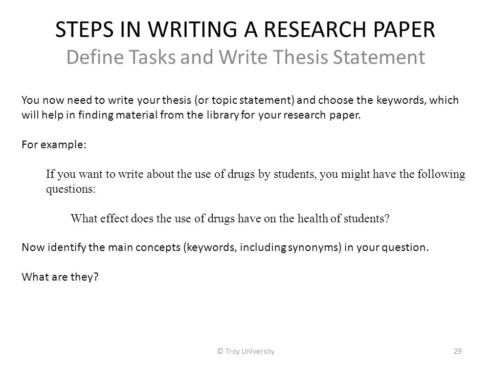 do all research papers need thesis statement