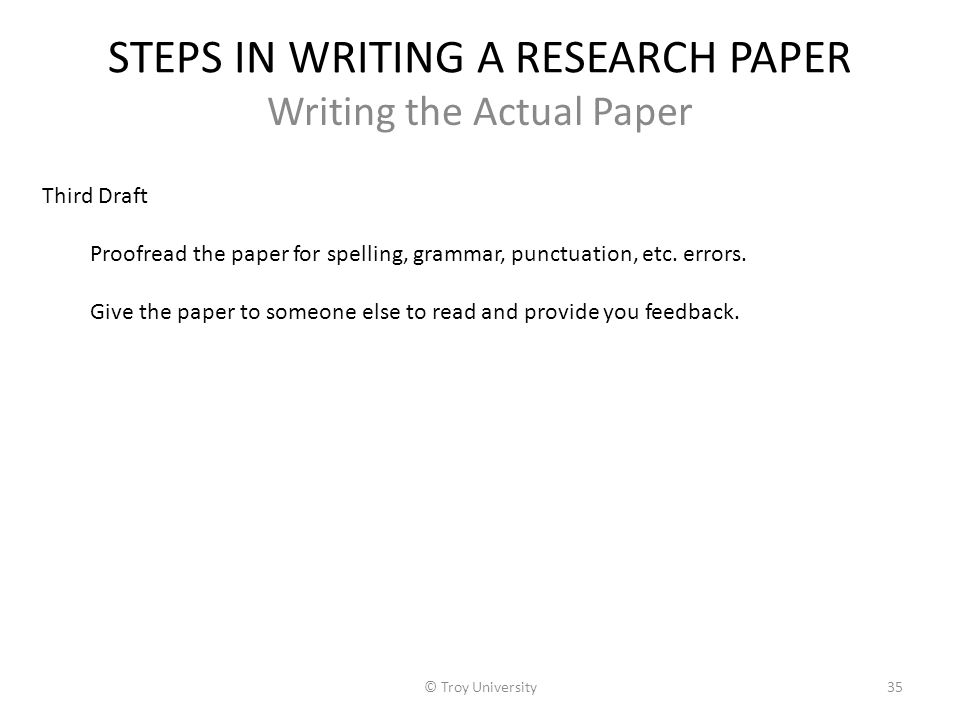 what are the steps in writing a research paper American university, academic support center, writing lab, updated 2009 ten steps for writing research papers there are ten steps involved in writing a research paper.
