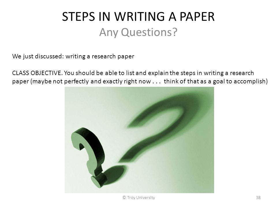 steps in writing a thesis paper Steps to writing a good paper the prospect of writing a paper can be intimidating your essay the form of your thesis statement will vary depending on the.
