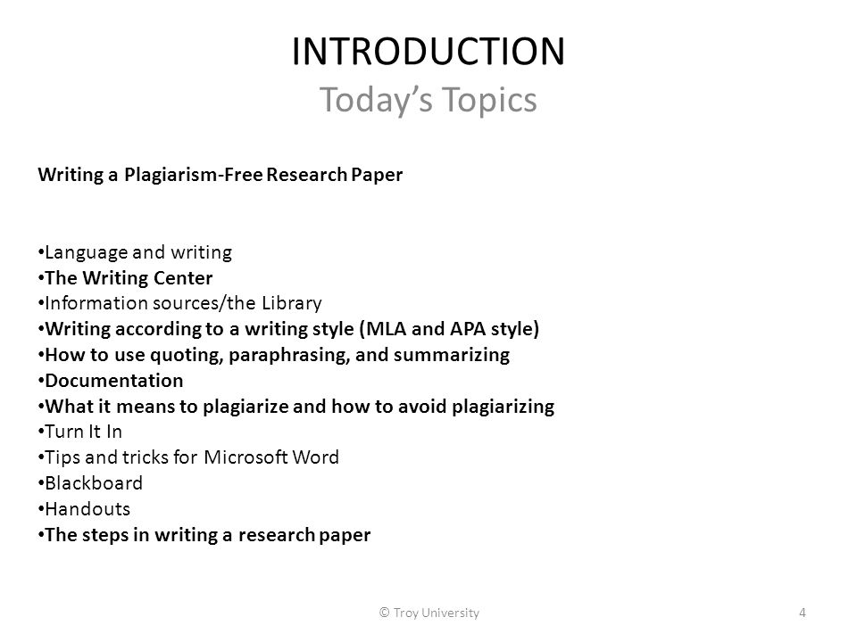 plagiarism + writing research paper In a research paper, you have to come up with your own original ideas while at   writing an outline, or coming up with a thesis statement in which you clearly.