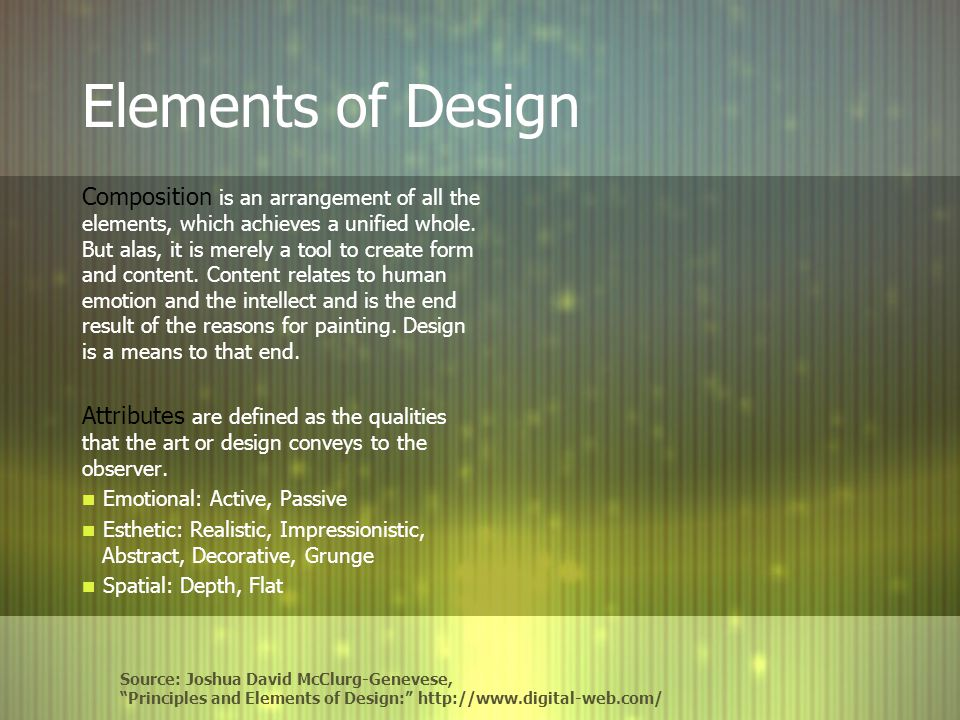 Elements Of Design Balance : Balance rhythm proportion dominance unity ppt video
