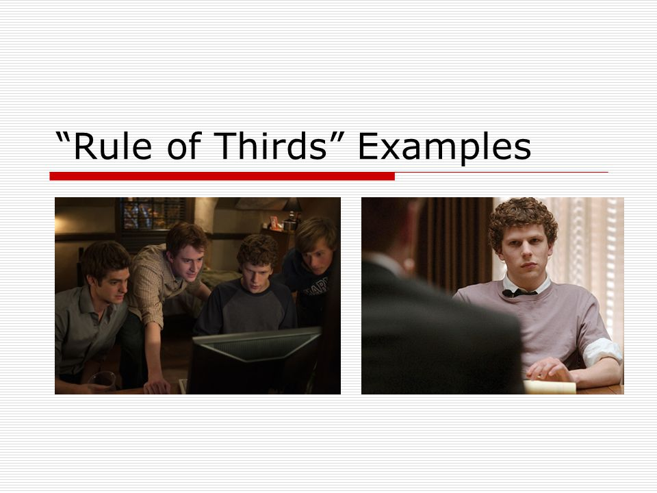 Rule of Thirds Examples