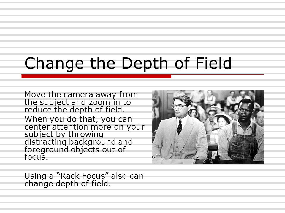 Change the Depth of Field