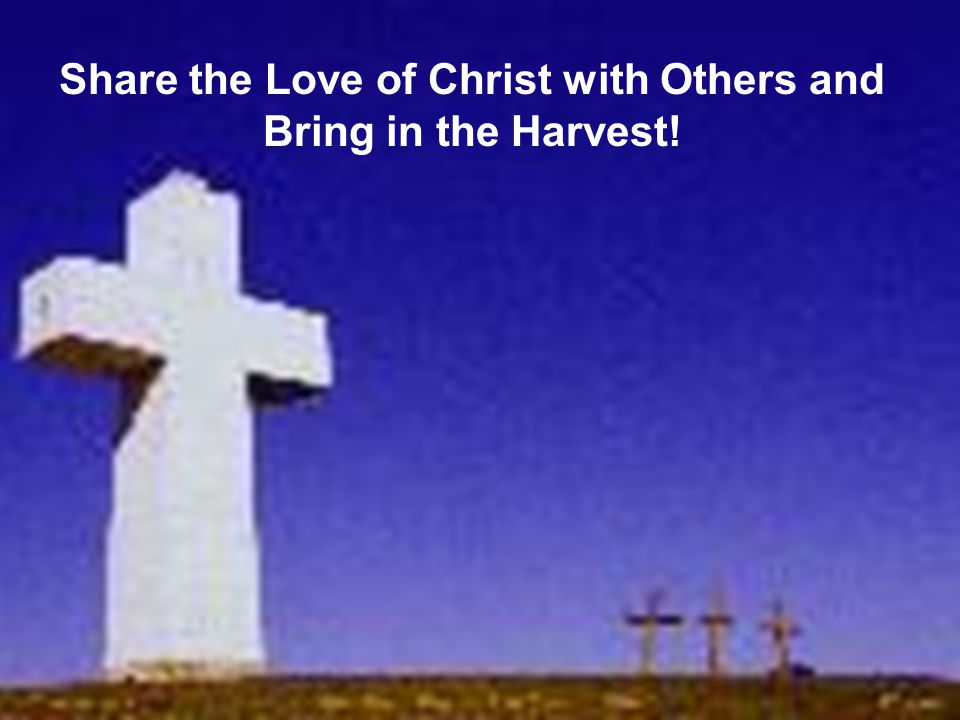 Share the Love of Christ with Others and Bring in the Harvest!
