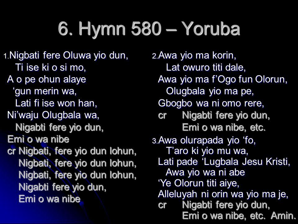 6. Hymn 580 – Yoruba