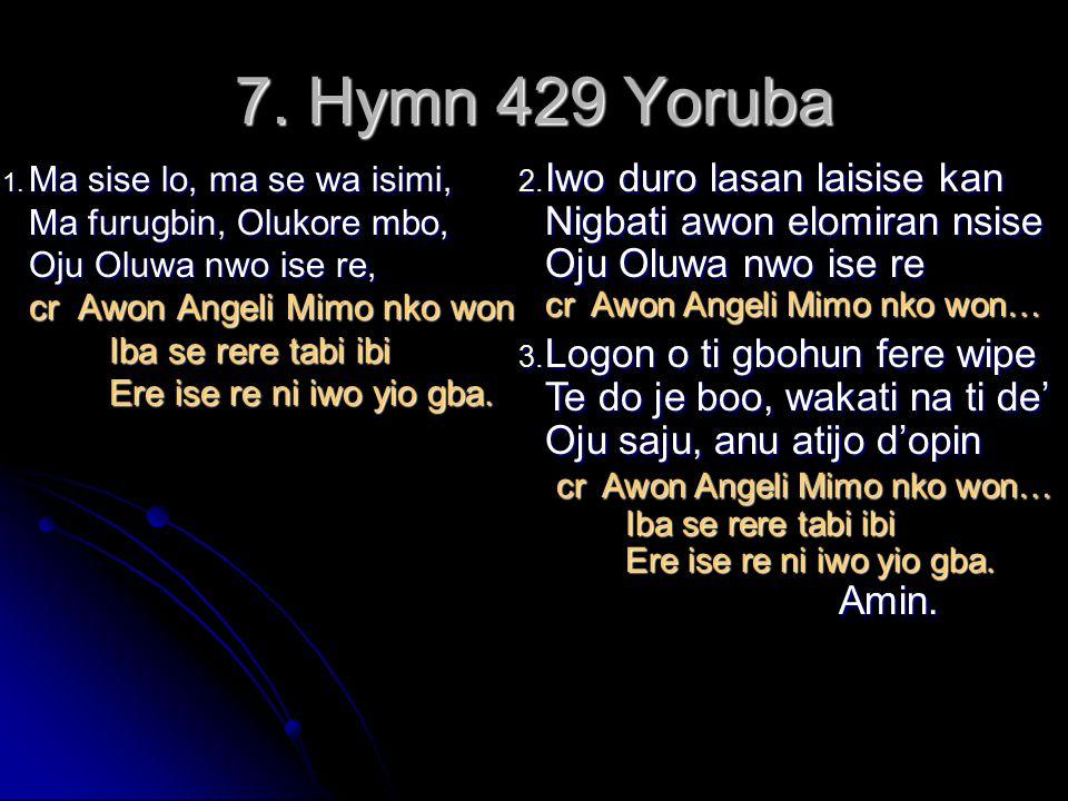 7. Hymn 429 Yoruba