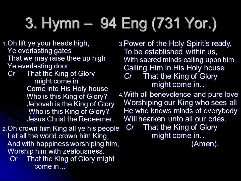 3. Hymn – 94 Eng (731 Yor.)