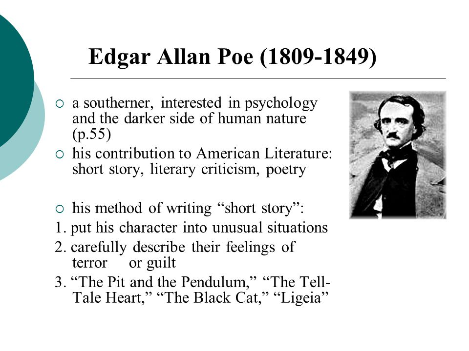 the motives of the protagonist in the black cat a short story by edgar allan poe Edgar allan poe's short story  the cask of amontillado by edgar allan poe  conceal his motives.