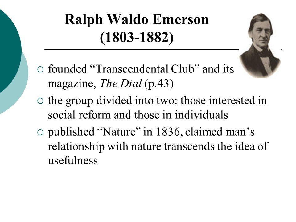 an analysis of transcendentalism through the eyes of ralph waldo emerson Source url:   saylor url:   saylororg.