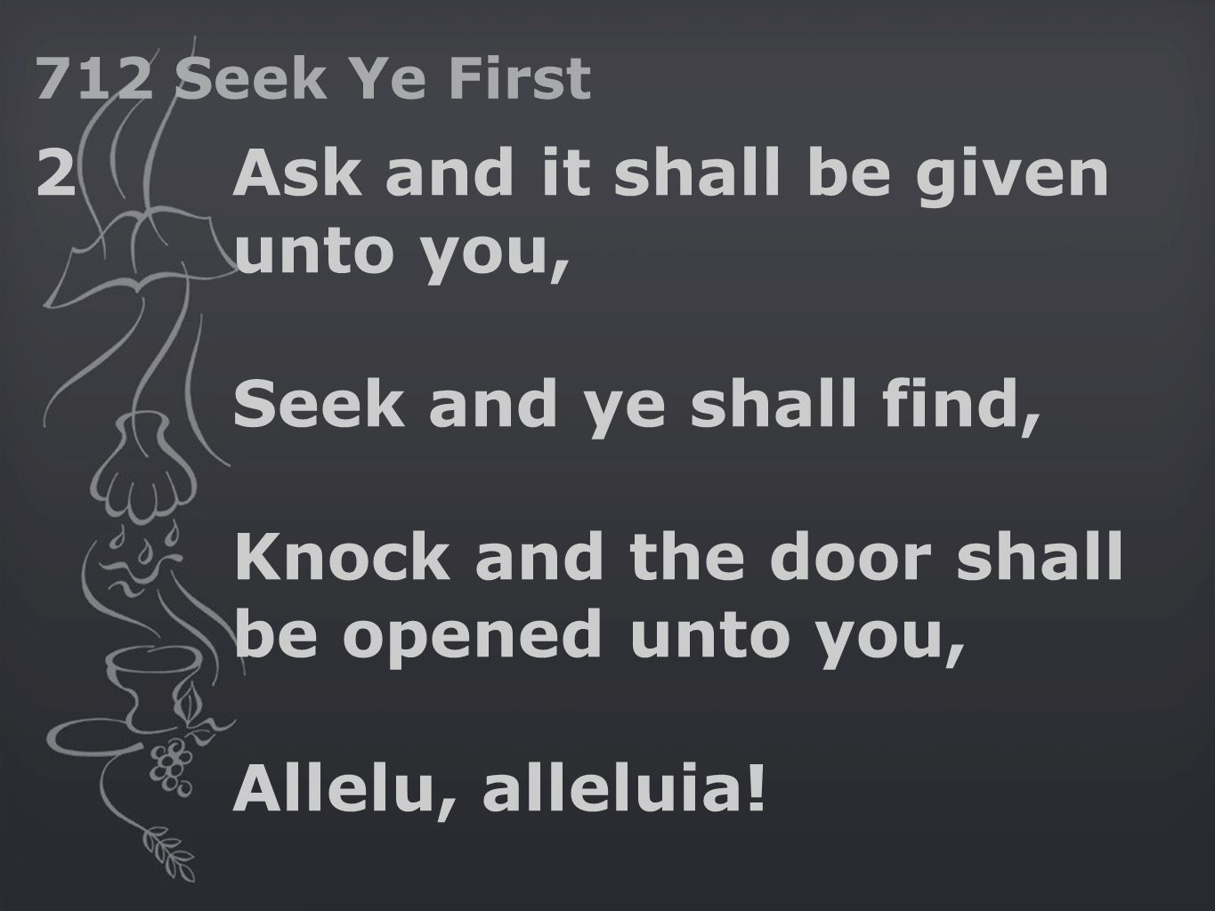 seek and you shall find neglect Matthew 7 listen mp3 (male) mp3 (female) 7 ¶ a ask, and it shall be b given you c seek, and ye shall find d knock, and it shall be opened unto you.
