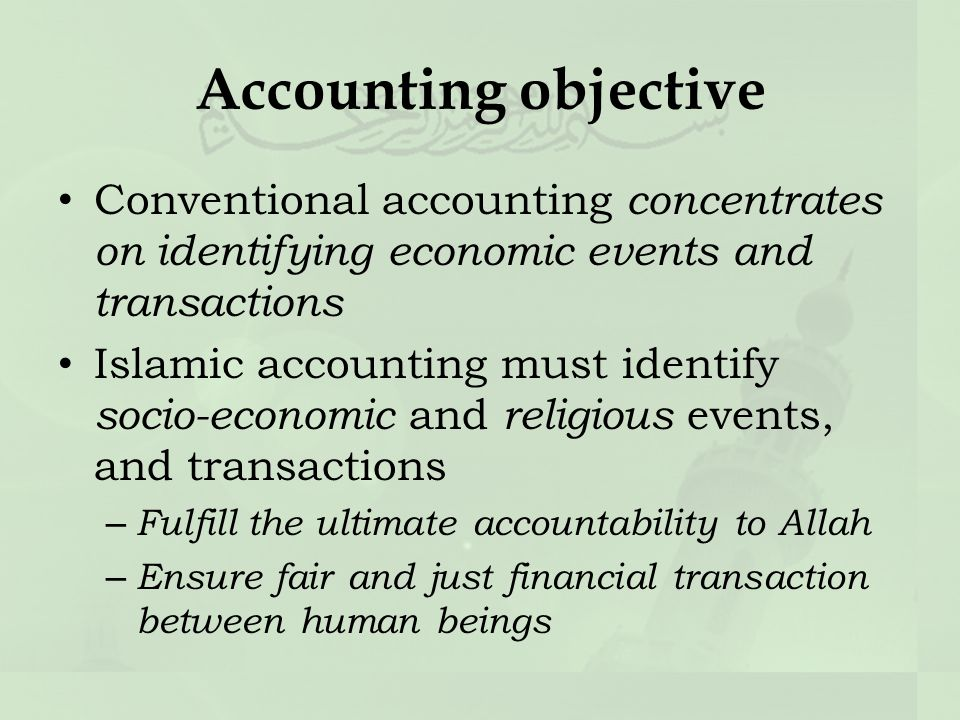 different between islamic accounting and conventional accounting Below is a snapshot of the definition, similarity and differences between islamic accounting and conventional accounting.