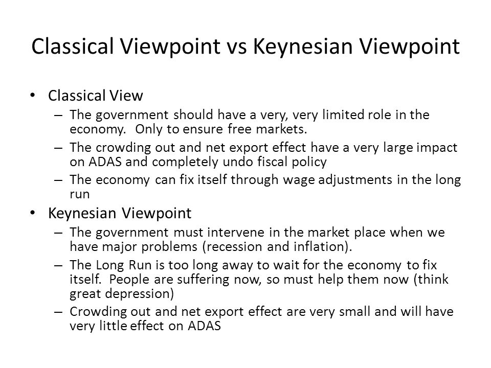 keynes theory and classical economy My research of classical economics and keynesian economics has given me the  opportunity to form an opinion on this greatly debated topic in economics.