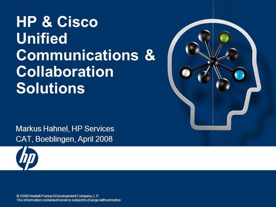 HP Cisco Unified Communications Collaboration Solutions