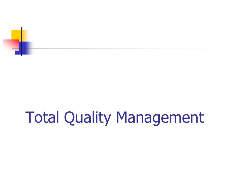 Total quality management in apple