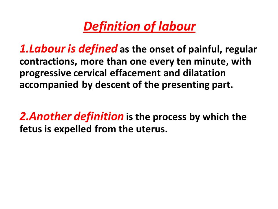 Definition Of Labour
