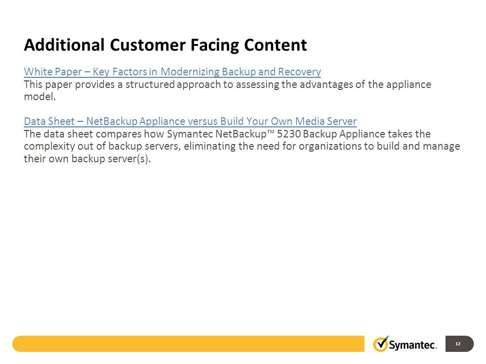 Additional Customer Facing Content