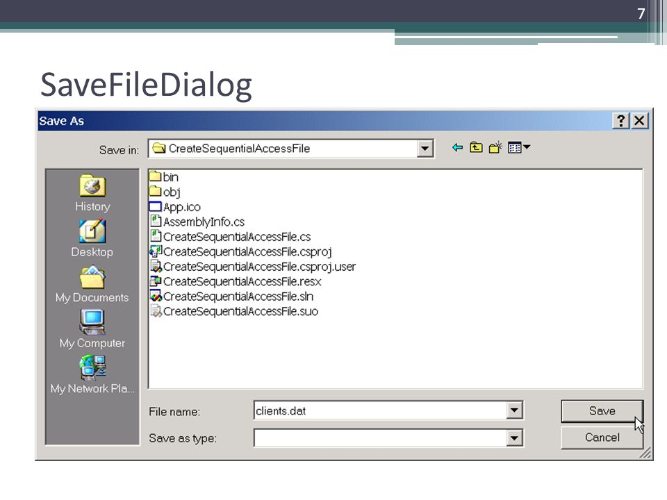 SaveFileDialog
