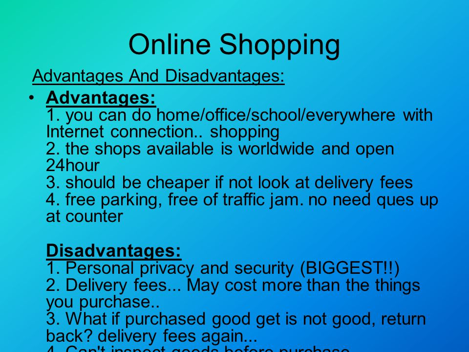 essay about shopping on the internet Online shopping is a form of electronic commerce which allows consumers to directly buy goods or services from a seller over the internet using a web browser.
