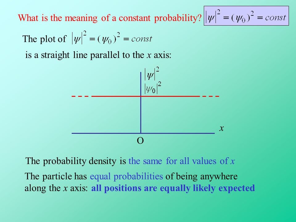 What is the meaning of a constant probability