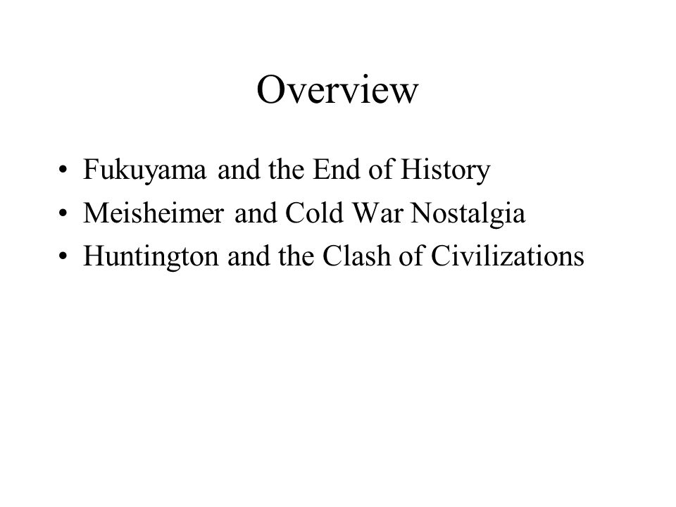 the end of history fukuyama essay summary Summary of primacy of culture by francis fukuyama essay the primacy of culture by  francis fukuyama – end of history rise and fall of major ideologies.