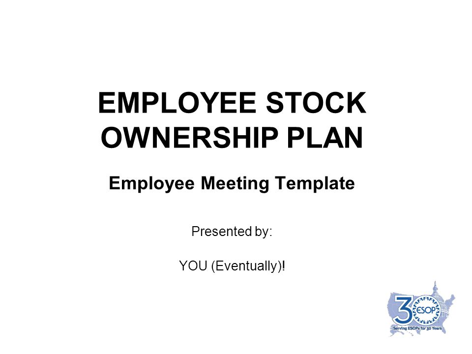 employee stock ownership plan ppt download. Black Bedroom Furniture Sets. Home Design Ideas