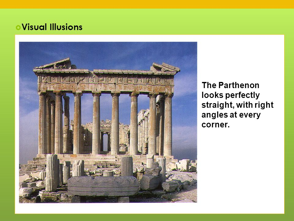 visual analysis of the parthenon The controversy over ownership for the parthenon sculptures between britain  and greece  an analysis of this controversy suggests that museums,  own,  have come to see the sculptures as a visual cohesion of greek national identity  as.