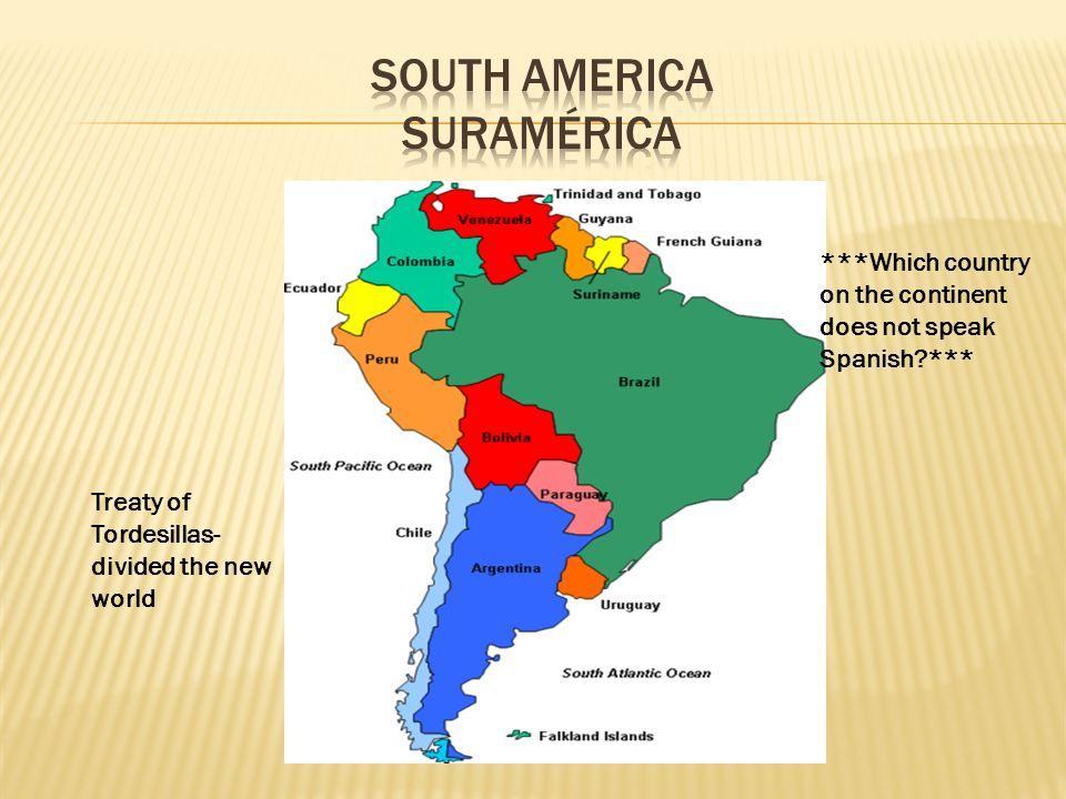 mapa de centro y sur america