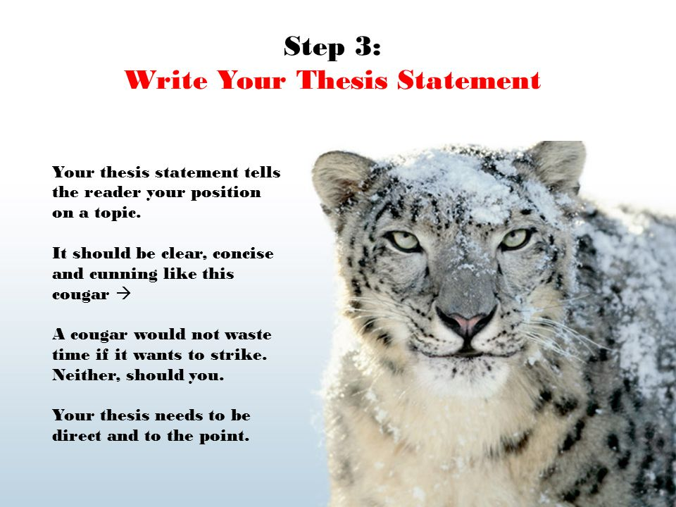 how to write a thesis statement paragraph Writing a reaction or response essay  write the thesis statement first  make sure the last sentence of each paragraph leads into the next paragraph check your .