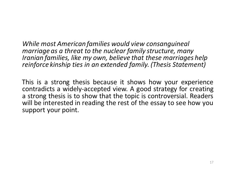 a group of paragraphs that develops a central idea ppt video  while most american families would view consan l marriage as a threat to the nuclear family structure