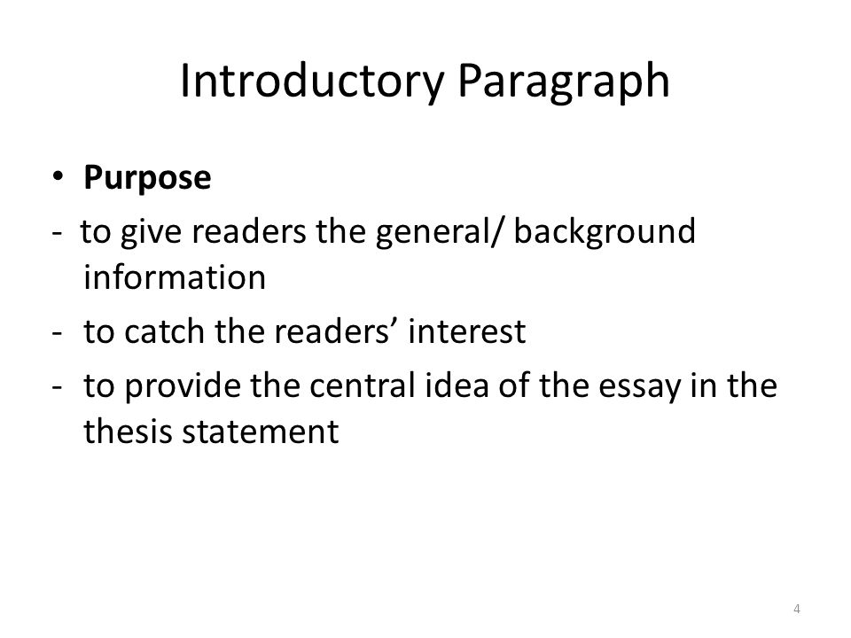 general purpose to inform essay